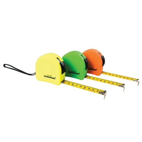 Silverline MT05 Hi Vis Contour Tape Measure Metric & Imperial 5m / 16ft x 19mm